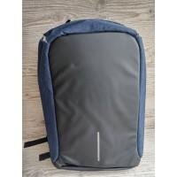 Антивандальный рюкзак с USB-зарядкой синий