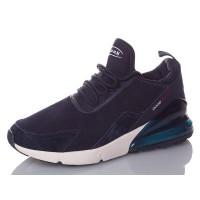 Кроссовки BaaS 270 замшевые тёмно-синие, 41-46р.