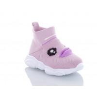Высокие детские кроссовки Jong Golf текстильные сиреневые, 26-31р.