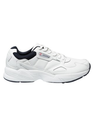 Кроссовки кожаные мужские Restime белые, 41-45р.