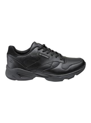 Кроссовки мужские кожаные Restime чёрные, 41-45р.