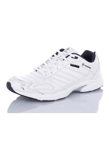 Кроссовки мужские кожаные Restime белые, 41-45р.