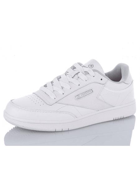 Мужские кожаные кроссовки Restime белые, 41-45р.
