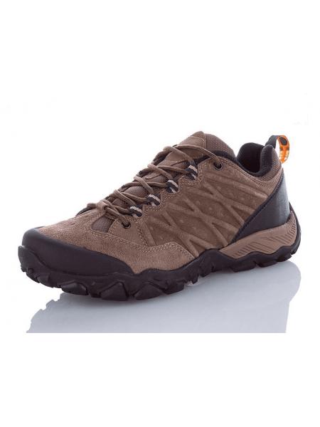 Туристические кроссовки Restime мужские коричневые замша, 41-45р.
