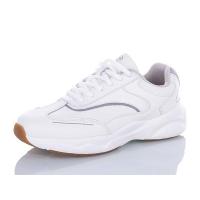 Кожаные кроссовки Restime белые, 36-41р.
