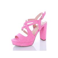 Босоножки женские Stilli розовые на высоком каблуке