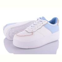 Модные кроссовки Stilli женские на высокой подошве белые