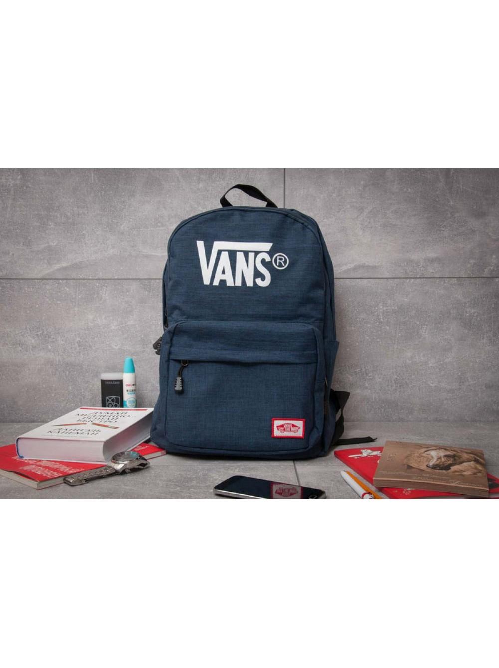 fca5a1e99a16 Модный рюкзак Vans, Cиний Купить Киев